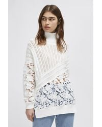 French Connection - Patchwork Mozart Lace Jumper - Lyst