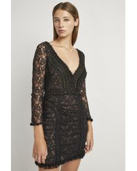 French Connection - Muriel Lace Bodycon Dress - Lyst