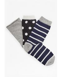 French Connection - Sanna 3 Pack Socks - Lyst
