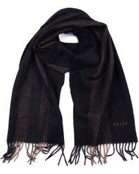 Bally - Sciarpa uomo in lana multi dark grey jacquard - Lyst