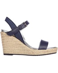 Hogan - Leather Shoes Wedges Sandals H266 - Lyst