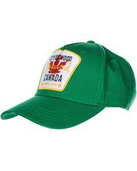 DSquared² - Cappello berretto regolabile uomo in cotone baseball - Lyst
