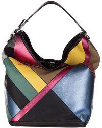 Burberry - Handbag Shopping Bag Purse Ashby Canvas Check Patchwork - Lyst