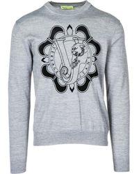 Versace Jeans - Maglione maglia uomo girocollo - Lyst