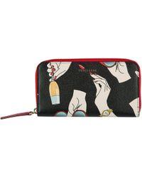 Trussardi - Wallet Coin Case Holder Purse Card Bifold Zip Around - Lyst