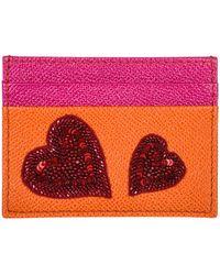 Dolce & Gabbana - Genuine Leather Credit Card Case Holder Wallet - Lyst