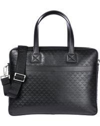 Emporio Armani - Briefcase Attaché Case Laptop Pc Bag Leather - Lyst
