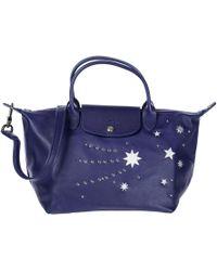 Longchamp - Leather Handbag Shopping Bag Purse - Lyst