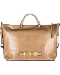 Boutique Moschino - Handbag Shopping Bag Purse In In Pelle - Lyst