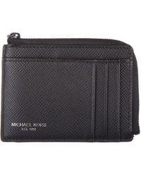 65b237c07175 Michael Kors - Genuine Leather Credit Card Case Holder Wallet Harrison -  Lyst
