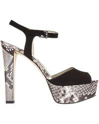 c44bac459ca6 MICHAEL Michael Kors  trish  Platform Sandals in Natural - Lyst