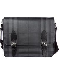 Burberry - Medium Leather Trim London Check Messenger Bag - Lyst 7117c8b5f3602