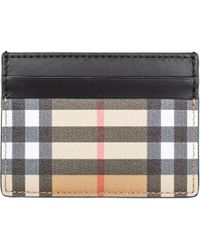 Burberry - Porta carte di credito portafoglio uomo pelle sandon - Lyst