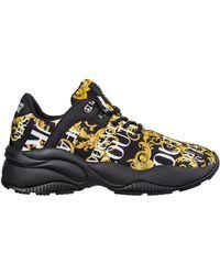 Versace Jeans Men's Shoes Nylon Sneakers Sneakers Logo Baroque - Black