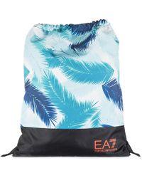 EA7 - Rucksack Backpack Travel Train Graphic - Lyst