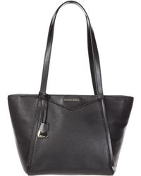 Michael Kors - Handbag Shopping Bag Purse Tote In Pelle Whitney - Lyst