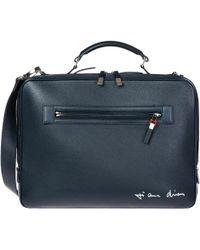 Dior - Briefcase Attaché Case Laptop Pc Bag Leather - Lyst