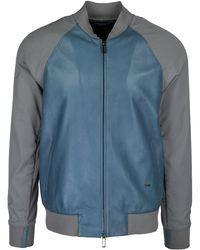 Emporio Armani - Leather Outerwear Jacket Blouson - Lyst