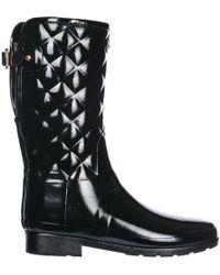HUNTER - Rubber Rain Boots Short Gloss - Lyst