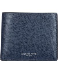 Michael Kors - Genuine Leather Wallet Credit Card Bifold Harrison - Lyst