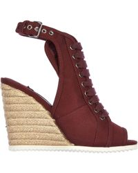 Prada - Shoes Wedges Sandals Gabardine - Lyst