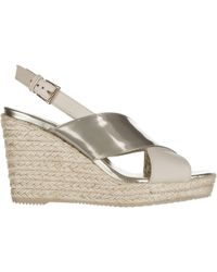 Hogan - Leather Shoes Wedges Sandals - Lyst