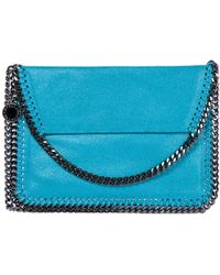 78a2882a01de Stella McCartney Falabella Shaggy Deer Cross-Body Bag in Blue - Lyst