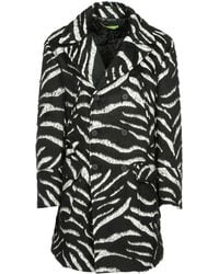 Versace Jeans - Double Breasted Coat Overcoat - Lyst