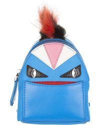 Fendi Bag Bugs Backpack Charm - Blue