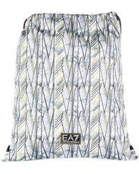 EA7 - Nylon Rucksack Backpack Travel Train Playground - Lyst