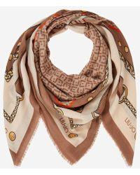 Lyst - Foulard Gavroche 45 en soie Hermès en coloris Marron 320c5ed6c5d