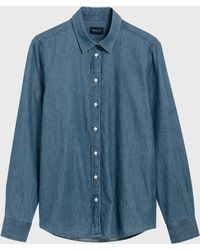 GANT - Luxury Chambray Shirt - Lyst