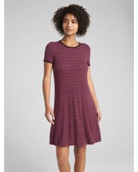 Gap - Short Sleeve Ribbed T-shirt Dress - Lyst