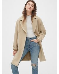 Gap Oversized Wool-blend Cocoon Coat - Natural