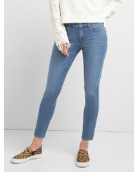 Gap - Mid Rise True Skinny Jeans In Super Slimming - Lyst