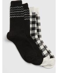 Gap - Pattern Crew Socks (2-pack) - Lyst