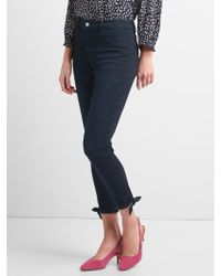 Gap - Mid Rise Favorite Ankle Jeggings With Tie-hem - Lyst