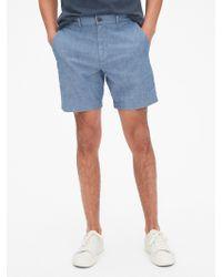 "Gap - 7"" Vintage Shorts With Flex - Lyst"