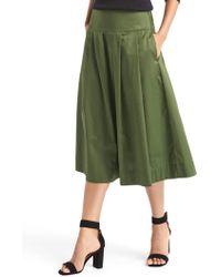 Gap - Pleated A-line Midi Skirt - Lyst