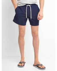 "Gap - 5"" Solid Swim Trunks - Lyst"