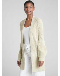 60d9470ad2 Gap - Textured Open-front Cardigan Sweater - Lyst