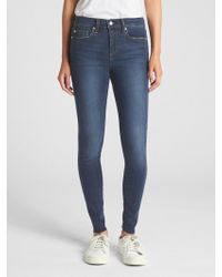 Gap - Soft Wear Mid Rise True Skinny Jeans - Lyst