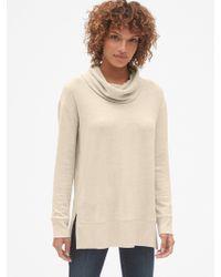 bfbfa8250f13e Lyst - Gap Softspun Off-the-shoulder Sweater in Natural