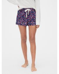 Gap Flannel Pajama Shorts - Blue