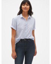 ee9701744a305 Lyst - Gap Hawaiian Short Sleeve Shirt in Blue