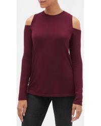 e326758c8da3d GAP Factory - Luxe Cold-shoulder Long Sleeve T-shirt - Lyst