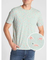 GAP Factory - Print Short Sleeve Pocket T-shirt - Lyst