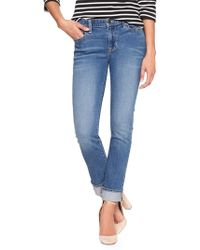 GAP Factory - Mid Rise Straight Cuff Jeans - Lyst