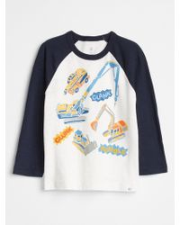 GAP Factory - Graphic Raglan T-shirt - Lyst