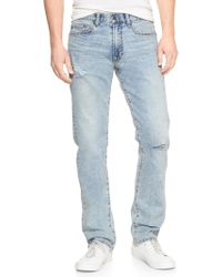 GAP Factory - Wearlight Destructed Jeans In Slim Fit With Gapflex - Lyst